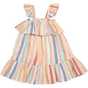 Pink Chicken: Multi-Color Stripe Amelia Dress